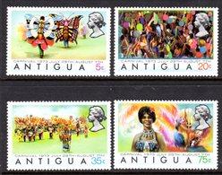 ANTIGUA - 1973 CARNIVAL SET (4V) FINE MNH ** SG 359-362 - 1960-1981 Autonomie Interne