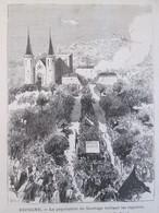Gravure 1873 Espagne SANTIAGO   La Population Brulant Les Registres   De La Conscription - Ohne Zuordnung