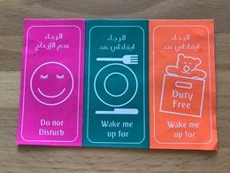 EMIRATES AIRLINES PLEASE DO NOT DISTURB STICKER - Stickers