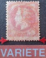 DF40266/1220 - NAPOLEON III Lauré N°32 - CàD ROUGE Des IMPRIMES (RARE)- VARIETE ➤➤➤ Piquage à Cheval - Cote Sup. à 100 € - 1863-1870 Napoléon III Lauré