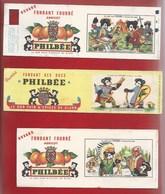 BUVARDS - LOT DE 3 - PAIN D'ÉPICES PHILBÉE - ENRÔLEMENT SOUS LOUIS XV,  CAROLINGIENS, MONTCALM - Gingerbread