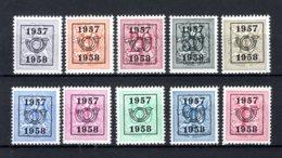 PRE666/675 MNH** 1957 - Cijfer Op Heraldieke Leeuw Type E - REEKS 50 - Precancels