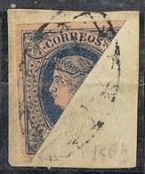 Sellos 1 Real  ANTILLAS, Colonia Española Cuba 1864, Bisectado En Framento, Num 11 º - Kuba (1874-1898)