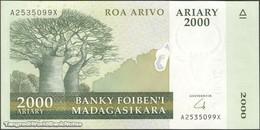 TWN - MADAGASCAR 90b - 2000 2.000 Ariary 2004 A XXXXXXX X UNC - Madagascar