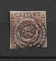 1851 USED Danmark Mi 1 - Oblitérés