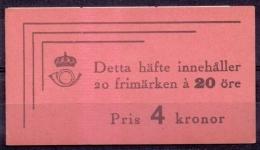 ZWEDEN 1942 Postzegelboekje H 61 20x20öre PF-MNH - 1904-50