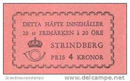 ZWEDEN 1949 Postzegelboekje A.Strindberg PF-MNH-NEUF - 1904-50