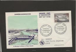 M48 FDC LE BARAGE DU RHONE ET L USINE BLONDEL 06/10/1956 BOLLENE ECLUSE - France