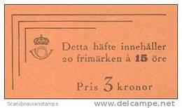 ZWEDEN 1945 Postzegelboekje Gustav V 20x 15õre PF-MNH-NEUF - 1904-50
