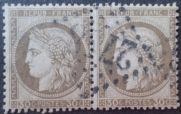 DF40266/1226 - CERES (PAIRE) N°56 - GC 2748 : ORTHEZ (Basses Pyrénées) INDICE 3 - 1871-1875 Ceres