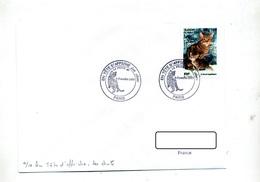 Lettre Cachet Paris Tete Affiche Chat - Marcophilie (Lettres)