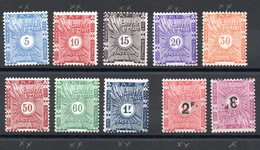 SOMALIS - YT Taxe N° 1 à 10 - Neufs ** - MNH - Cote: 57,50 € (n° 10 Neuf *) - French Somali Coast (1894-1967)