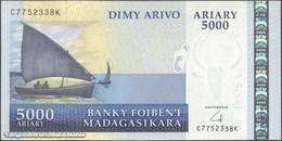 TWN - MADAGASCAR 91b - 5000 5.000 Ariary 2004 C XXXXXXX K UNC - Madagascar