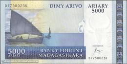 TWN - MADAGASCAR 91c - 5000 5.000 Ariary 2004 D XXXXXXX K UNC - Madagascar
