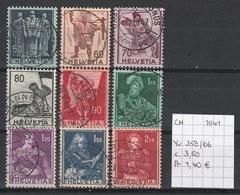 Zwitserland 19411 - Yv. 358/66 Gestempeld/oblitéré/used - Schweiz