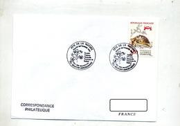 Lettre  Cachet  Belfort Fete Nature Theme Fleur - Marcophilie (Lettres)