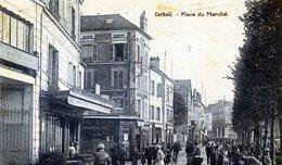 91  CORBEIL ESSONNES  PLACE DU MARCHE (CPA BLEUTEE) - Corbeil Essonnes