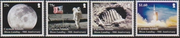 CAYMAN ISLANDS, 2019, MNH,SPACE, MOON LANDING, 4v - Space