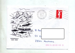Lettre Flamme Muette Saint Etienne En Devoluy Vue - Mechanical Postmarks (Advertisement)