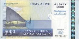 TWN - MADAGASCAR 94 - 5000 5.000 Ariary 2008 Madagascar Action Plan 2007-2012 - Prefix MAP UNC - Madagascar