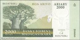 TWN - MADAGASCAR 96 - 2000 2.000 Ariary 2014 Hybrid Substrate - B XXXXXXX J UNC - Madagascar