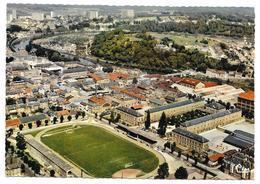 Cpsm: 08 CHARLEVILLE MEZIERES - Le Stade De Football Et Le Lycée Chanzy - Vue Aérienne Ed. CIM  N° 508.51 - Charleville