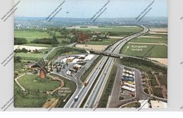 4150 KREFELD - OPPUM, Autobahn-Raststätte Geismühle West, Luftaufnahme - Krefeld
