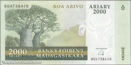 TWN - MADAGASCAR 96 - 2000 2.000 Ariary 2014 Hybrid Substrate - B XXXXXXX R UNC - Madagascar