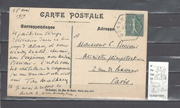 Lettre  Cachet  Hexagonal Gare De Bennwihr - Haut Rhin   - Recette Auxiliaire - Indice 15 - Correo Ferroviario
