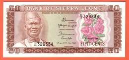 Billet - SIERRA  LEONE  50 Cents  04 08 1984  Pick 4e - Sierra Leone