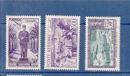 MAROC POSTE AERIENNE ANNEES 1951 -- 81/83 NEUF SANS  CHARNIERE - Morocco (1891-1956)