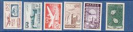 MAROC POSTE AERIENNE ANNEES 1952-53 -- 84/93 SAUF 89/92 NEUF SANS  CHARNIERE - Morocco (1891-1956)