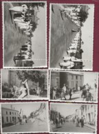 120420C - 8 PHOTOS Amateur 1956 - 33 REIGNAC Kermesse Déguisement Parade Défilé Cheval - Orte