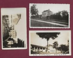 120420D - 3 PHOTOS Amateur Annéex 1940 - 33 REIGNAC Propriété Villa Les Acacias - Lugares
