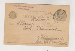 CROATIA HUNGARY 1904 Cakovec Csaktornya Max Neumann Junior Postal Stationery - Croatie