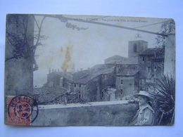CARTE POSTALE Ancienne 1900 : VILLA AMBROISE THOMAS / HYERES ( VAR ) Cachet ILE DE PORQUEROLLES - Hyeres