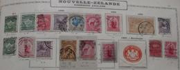 NEW ZELAND 1899 1900 1903 (18 Stamps) 4 Scans - Oblitérés