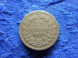 NETHERLANDS 25 CENTS 1849, KM76 - [ 3] 1815-… : Kingdom Of The Netherlands