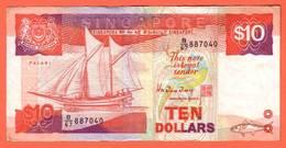 SINGAPOURE Billet 10 Dollars De 1988 - Pick 20 - Singapore