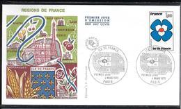 FDC 1978 - 1991  Régions De France: ILE DE FRANCE - 1970-1979