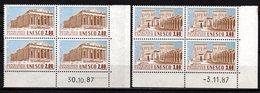 France Service N° 98/99**, Blocs De 4 Coin Daté 1987, Superbes - Esquina Con Fecha
