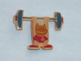 Pin's BARCELONA 92, COBI HALTEROPHILIE - Jeux Olympiques