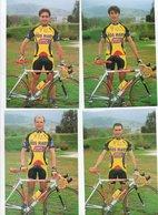 CYCLISME   Tour De France  4 CARTES ROS MARY AMICA CHIPS 1999 - Cycling