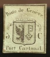 Zu 5* / Mi 3* Kleiner Adler Fr. 4'600.-- Cert. - 1843-1852 Federal & Cantonal Stamps