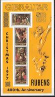 Gibraltar 1977 Paintings By Peter Paul Rubens (1577-1640), Flemish Painter  Mi Bloc 4 MNH(**) - Gibraltar