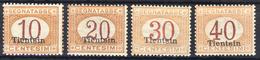 1917 - Serie Dei Segnatasse - Nuovi Con Gomma Integra Mlh - 11. Uffici Postali All'estero