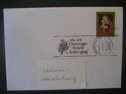 """Österreich- Advent Langenwang 5.12.1989 Werbestempel """"Als Ich Christtagsfreude Holen Ging"""" - 1981-90 Cartas"""