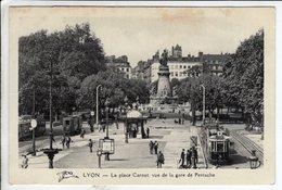 Cpa Lyon La Place Carnot Vue De La Gare De Perrache - Lyon