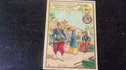CHROMO Chocolat Poulain  Gauffree Relief DECORATIONS FRANCAISES ET ETRANGERES  CHINE - Poulain