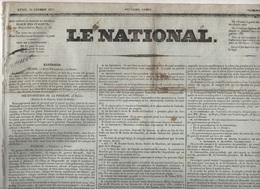 LE NATIONAL 28 02 1831 - RUSSIE - POLOGNE VARSOVIE - BRUXELLES REGENT - CENS D'ELIGIBILITE - GENES - SAVOIE - PERPIGNAN - Journaux - Quotidiens
